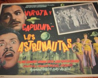 Los Astronautas The Astronauts 1964 Mexican Comedy Film Movie Lobby Card