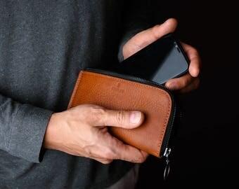 iPhone X Wallet Case, iPhone X Case Wallet, iPhone Leather Wallet, Phone Wallet, FORM iPhone Zip Wallet Case, Minimalist Wallet