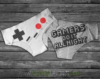 Gamer Do it All Night / Gamer Undies / Gamer Girl Underwear