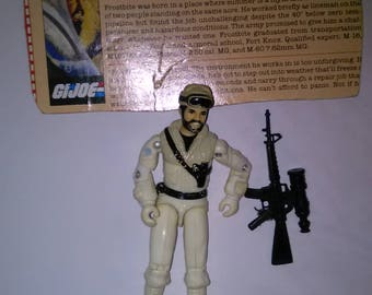Vintage GI Joe Action Figure FROSTBITE ******1980's-Early 1990's****** Check Out My other Listings