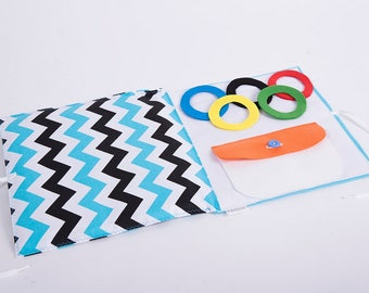 Olympics Sensory Quiet Book Olympic cirlces Montessori Activity Page