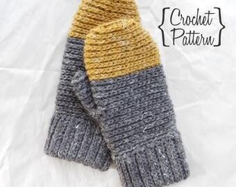 Crochet Pattern // Abby Colorblock Mittens // Advanced Intermediate // Crochet Mittens // Crochet Mitten Tutorial