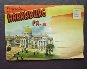 souvenir of Harrisburg Pennsylvania Fold Out Post Cards