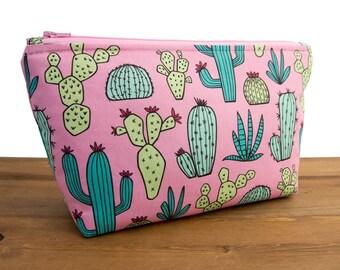 Cactus Makeup Bag - Cactus Gifts - Cactus Bag - Make Up Bag - Makeup Bag Set - Pencil Pouch Organizer - Zippered Pouch - Succulent #10