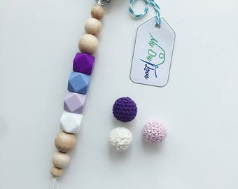 ♥ Purple lilac silicone beads