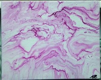 Wine Drip Painting
