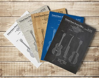 Guitar Patent Poster, Acoustic Guitar, Guitar Art Poster, American Guitar, Buck Owens, Guitar Patent, Guitar Player Gift, INSTANT DOWNLOAD