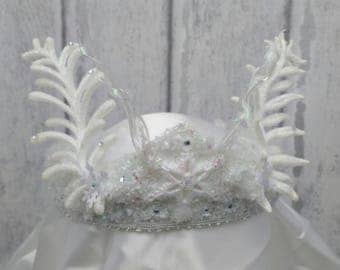 Ice queen crown, icicle crown, winter crown, snow queen crown, white witch, snow princess crown, ice maiden circlet, winter costume crown,