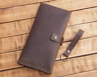 Leather wallet mens leather wallet brown mens travel wallet passport holder men credit card wallet leather wallet minimalist passport slim