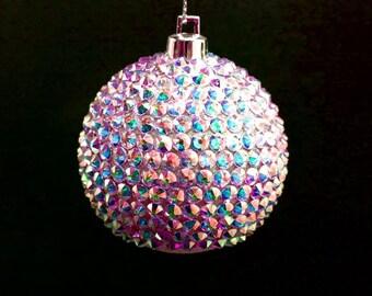 AB Swarovski Christmas balls,Free Shipping,Handmade Christmas balls,Christmas Tree balls, Christmas Ornament,Custom Swarovski,Christmas gift