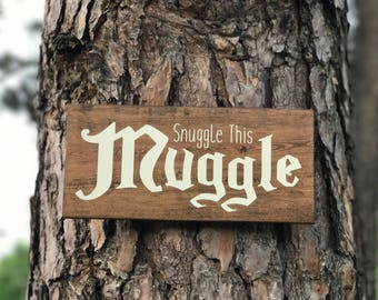 Snuggle This Muggle / Harry Potter inspired Nursery / Nursery Signs / Coming Home Gift / New Born Gift / Baby Shower