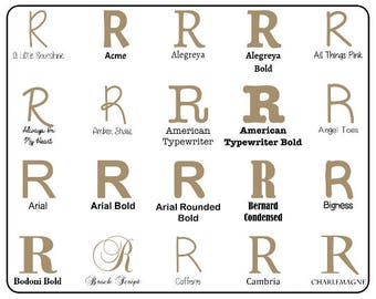 """Wooden Letter """"R"""" Capital  - Unfinished, Unpainted -- Perfect for Crafts, DIY, Nursery, Kids Rooms, Weddings (MDF)"""