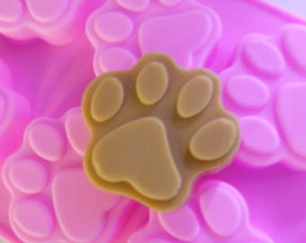 Paw Print Silicone Soap Mould