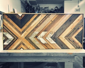 Recycled wooden frame