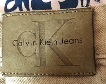 Vintage Calvin Klein Khakis/Beige Pants 1990s 90s