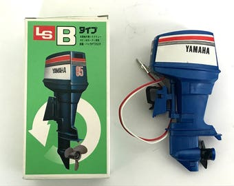 LS YAMAHA 85 Toy Outboard motor Type B For display Made in Japan Rare Free shipping The motor does not move