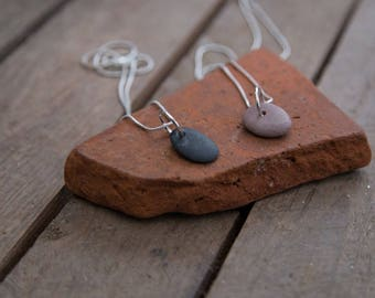 CORNISH PEBBLE PENDANT | Of Land and Sea | minimalist | earth friendly | nature inspired necklace | silver and stone