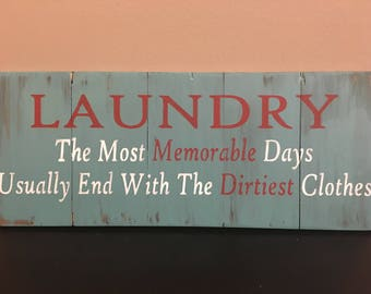 Rustic Sign 'Laundry' painting, laundry room decor, laundry sign, laundry room sign, home decor, home decor,