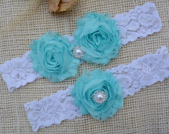 Blue Garter, Bridal Garter Set, Wedding Garter Set, Something Blue, Garter, White Lace Garter, Wedding Clothing, Keep Garter, Toss Garter