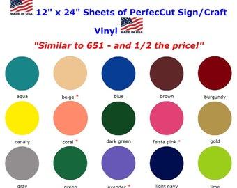 "PerfecCut Sticky/Craft Vinyl 12"" x 24"" sheet"