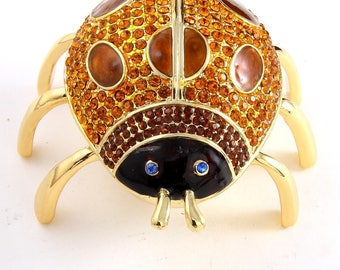 Enamel Bee Jewelry Box