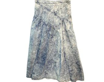 Vintage ©1990's Paris Blues Denim Skirt