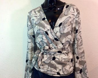 Blouse, wrap blouse in