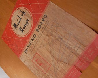 Vintage wood ironing board, farmhouse ironing board, Maid Of Honor Ironing Board