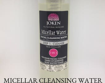 Micellar Water- All Natural Cleansing Water 7oz