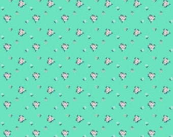 1 yard - A Little Sweetness - Vintage Mint floral - Riley Blake Designs - cotton fabric - Tasha Noel