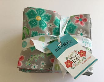 Flora and Fawn by Amanda Herring for Riley Blake Designs, 21 cotton fat quarter bundle
