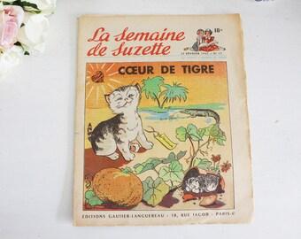 Vintage French Magazine - Children's Magazine - La Semaine de Suzette - 21st February 1952