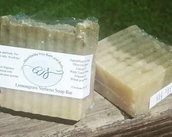 Lemongrass Verbena Soap Bar    Palm Oil Free