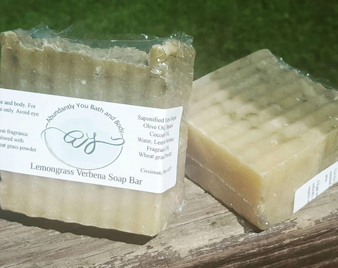 Lemongrass Verbena Soap Bar  | Natural Oils