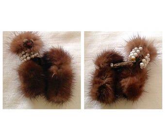 Anniversary Sale Adorable Vintage 50's Fur Dog Pin