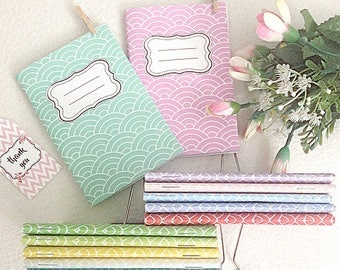 Vintage handmade notebooks, Personalized notebooks, Vintage Colorful notebooks, Personalized sketchbooks