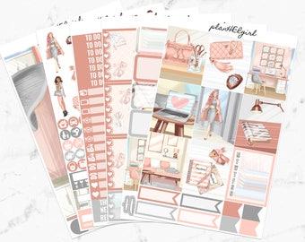 Girl Boss Sticker Kit, Planner Stickers for Erin Condren Vertical Planner, Happy Planner, Recollections Planner Sticker Kits