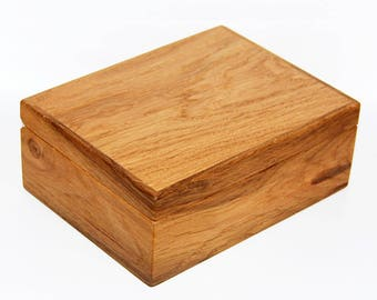 Jewelry box engraving giftbox personalized wood Magnetic seal solid Oak