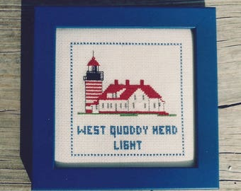 West Quoddy Head Light Counted Cross Stitch Kit