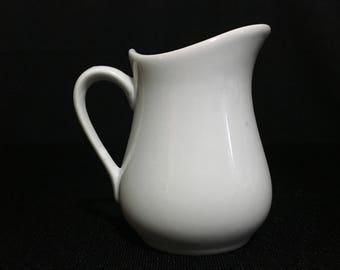 Vintage Small White Porcelain Creamer   (TTT17)