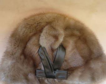 Vintage Fur Hat, genuine fox fur