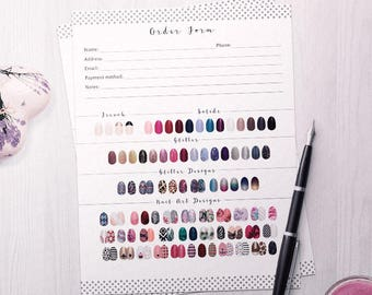 Color Street Order Form, Color St Orders, ColorStreet business, 8.5x11, PDF and JPG files, Nail Business, Printable PDF