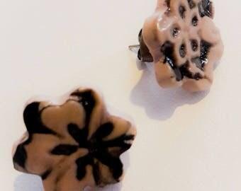 Flowers, designer jewelry, unique earrings