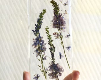 IPHONE X pressed dried flower phone case | field wild real plants and flowers | handmade unique floral case iphone 10