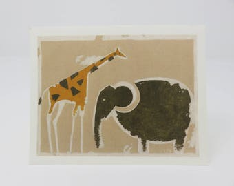 10 African Safari Cards//blank cards//hand made//cards