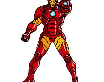 Patch / patch - AVENGERS Iron Man comic kids - red - 6x9cm - patch application applications to the iron application patches patch