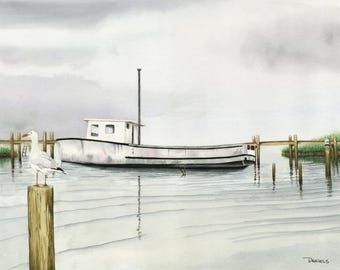 Boat at Chincoteague