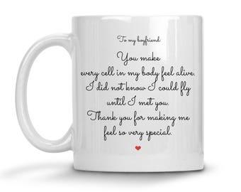 Romantic Gifts For Boyfriend - Boyfriend Coffee Mug - Valentines Day Gift For Boyfriend - Boyfriend Gift - Anniversary Gift For Boyfriend