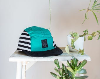 The KIWI CAP /// ColorClashCollection /// Handmade and recycled 5panel hats/caps