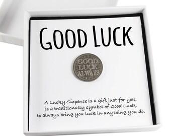 Lucky Sixpence Keepsake Gift,  Good Luck Present, Lucky Coin, Leaving Job Gift, New Job Gift
